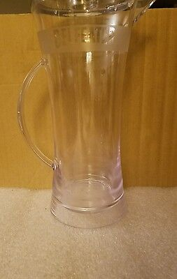 """BEEFEATER Gin promotional 12"""" plastic martini drink mixer pitcher BAR SWAG sleek"""