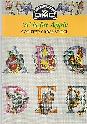 A is for Apple - Cross stitch chart by DMC - from my stash