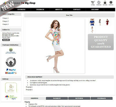 eBay Listing Template Mobile Responsive Layout Change No Active Content - HMR3