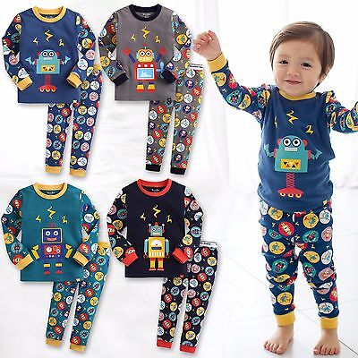 "Vaenait Baby Infant Toddler Kids Boys Clothes Pajama Set ""Mega Robot Set"" 12M-7T"