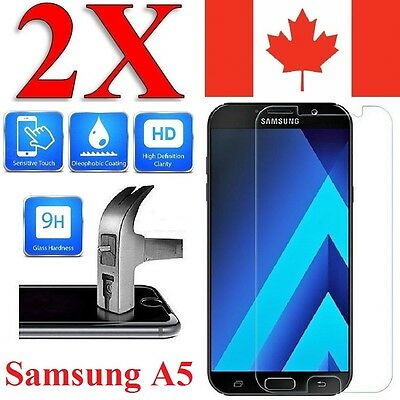 2x Plastic / Tempered Glass Screen Protector For Samsung Galaxy A5 2017 & 2016