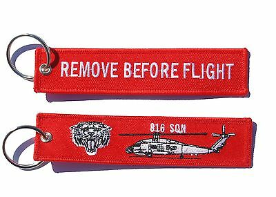 816 Squadron Seahawk  Remove Before Flight Key Ring Luggage Tag