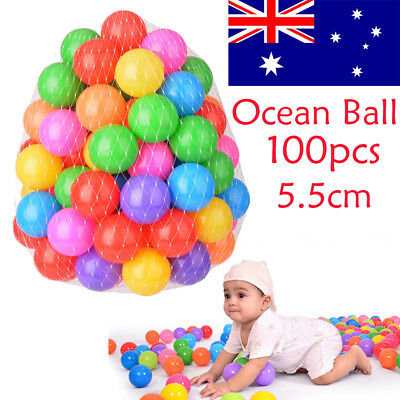 100x Secure Baby Kid Pit Toys Swim Soft Plastic Fun Colorful Ocean Balls AU NSW