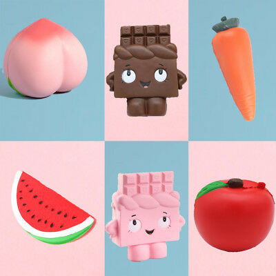 I-Bloom Watermelon/Chocolate/Carrot/Peach/Apple Squishy Squeeze Relax Gift Cute
