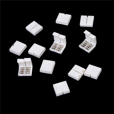 10PCS 4-PIN RGB Connector Adapter For 5050 RGB LED Strip Solderless 10mm WC