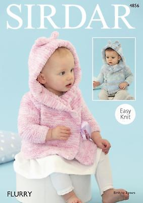 Sirdar 4856 Knitting Pattern Baby Hooded Jacket with Ears in Flurry Chunky