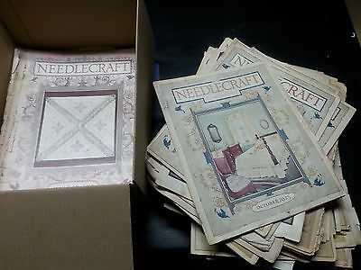 Vintage 1915-1929 Huge Lot of 60+ Issues of Needlecraft Magazine Lots of Ads!