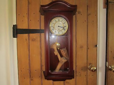Vintage Franz Hermle  Wall Clock In Very Good Working Order.