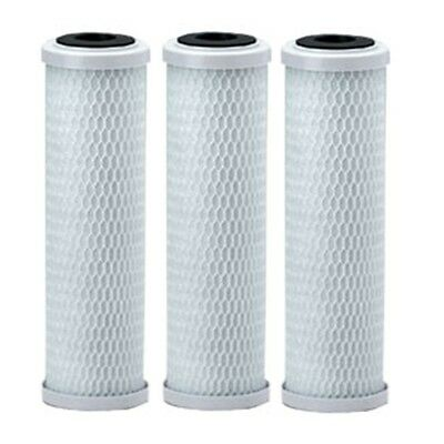 "3 X 10"" Carbon Block CTO Water Filter Cartridges for RO Reverse Osmosis"