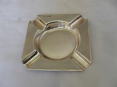 Vintage solid silver ash tray hallmarked Sheffield 1967