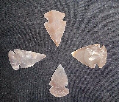4 Ancient Neolithic Flints Arrow head 6000-4000 BC