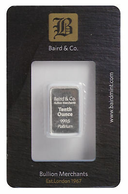 1/10oz Baird Mint .9995 Platinum Bar