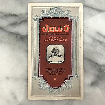 Antique Jell-O Of What and How Made Genesee Pure Food Co Advertising Brochure