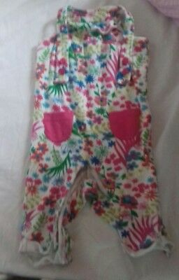 girls summer dungaree size 6-9 month