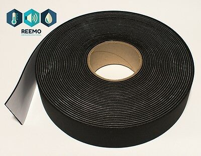 Reemo Pipe Insulation Lagging Tape 50mm x 3mm x 15m Black Class O
