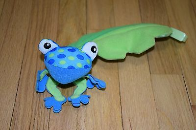 Fisher PriceRainforest Jumperoo Replacement Part Blue Frog Leaf Hanging Pole Toy