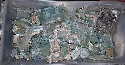 ANCIENT Roman Glass fragments AND Bracelets