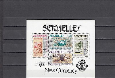 a128 - SEYCHELLES - SGMS472 MNH 1980 NEW CURRENCY NOTES