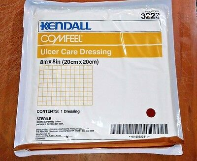"""Kendall Comfeel ULCER CARE DRESSING 8""""x8"""" (box of 5) STERILE"""