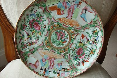 Chinese Canton Famille Rose Plate 19c Circa 1880
