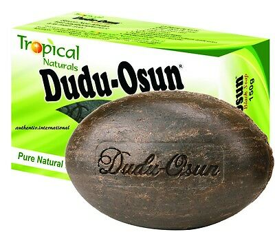 Tropical Dudu Osun African Black Soap 150g eczema, Acne, fungus *UK SELLER*