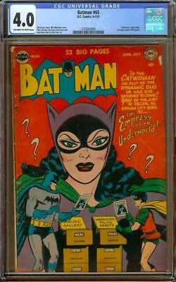 Batman #65 CGC 4.0 OW/W Classic Catwoman Cover 1st Appearance of Wingman