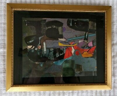 Vintage Original Small Framed Signed Mixed Media Artwork