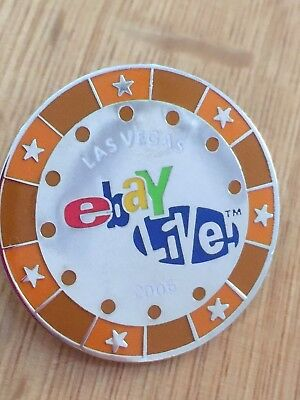 eBay Pin 'Live' Collectible Las Vegas 2006 Push back pin 1.25""