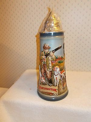 Anheuser Busch WINCHESTER Series QUAIL HUNT Lidded Stein Gerz Germany in Box
