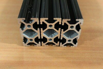 80/20 Inc 1 x 2 T-Slot Aluminum Extrusion 10 Series 1020 Black Lot 5 (3pcs)