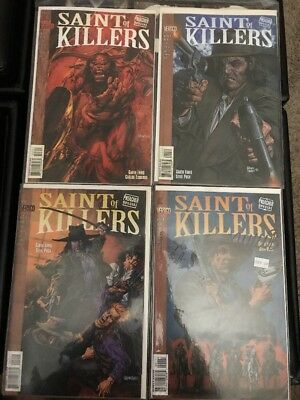 preacher special saint of killers run Signed And Bonus No. 2,3,&4 Comic Books