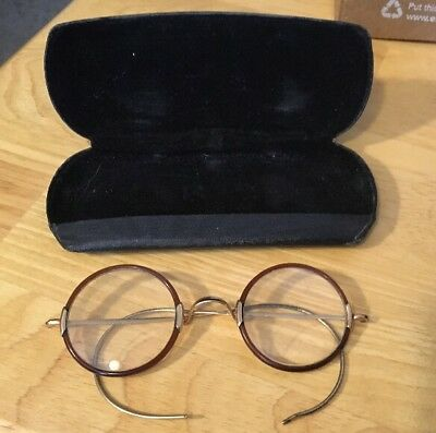 Vintage Bifocal Glasses W/ Case