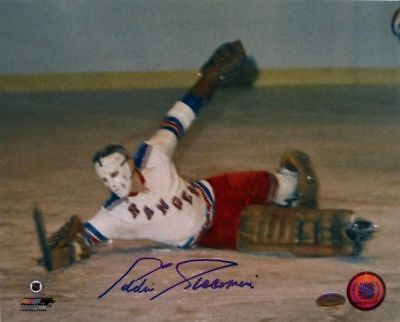 Eddie Giacomin New York Rangers Signed/Autographed 8x10 Diving Save Photo SI