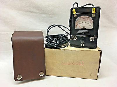 Vintage OHM Meter KS 8456 Brand New - Never Used with Leather Case Old Stock