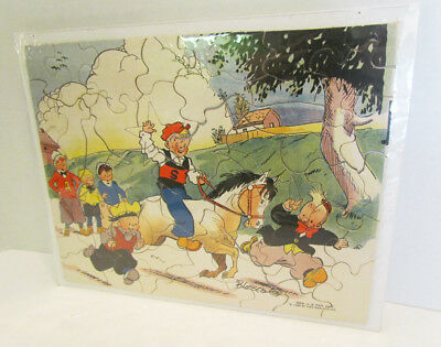 Freckles And His Friends Comic Strip 1933 Jigsaw Puzzle W/ Envelope Vintage