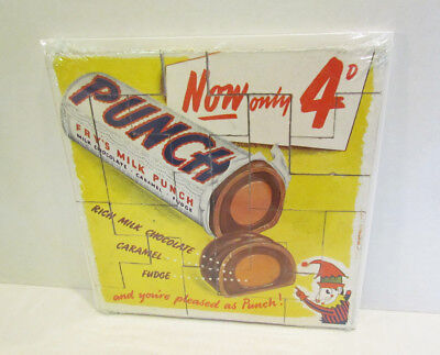 FRY'S MILK PUNCH CHOCOLATE CANDY BAR 1950's ADVERTISING PREMIUM PUZZLE from UK