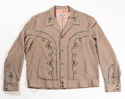 VTG WESTERN JACKET COAT RODEO MAC-MURRAY H BAR C CALIFORNIA RANCHWEAR 50s STYE L