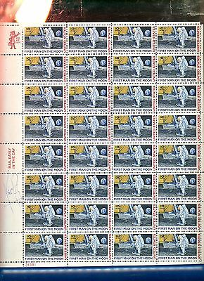 Genuine ~ Niel Armstrong Autograph ~ On U.s. Airmail Mint 10C Stamp Sheet (C-76)