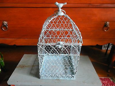 Metal Blue Wire Decorative Birdcage