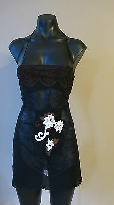 Dolce and Gabbana negligee size 40 made in Italy black