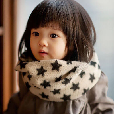 winter Kid Children Cotton Neck Scarf Neckerchief Color Star baby wool shawl
