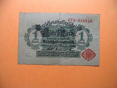 Vintage 1914 --1 Mark   Bank Note Currency