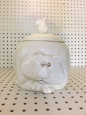 Fitz and Floyd Fat Cat and Mouse Cookie Jar