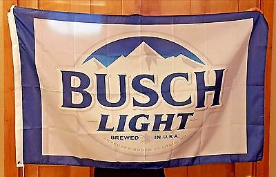 Busch Light Bud Beer Flag 3' X 5' Deluxe Indoor Outdoor Banner man cave bar