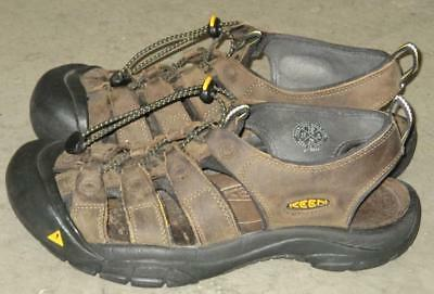 Keen Mens Newport H2 Brown Waterproof Hiking Shoes Sandals Size 10