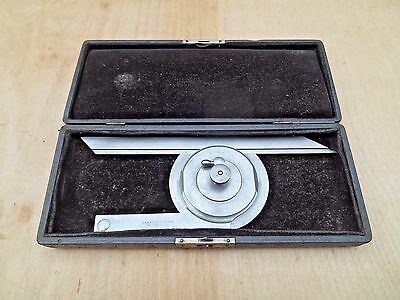 Starrett No. 360 Universal Bevel Protractor , With Case