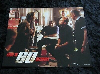 GONE IN 60 SECONDS lobby card # 5 NICOLAS CAGE