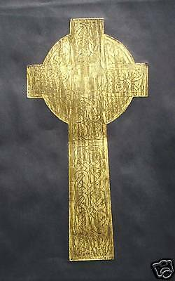 CELTIC CROSS from St Andrew's, Scotland, a hand crafted Brass Rubbing