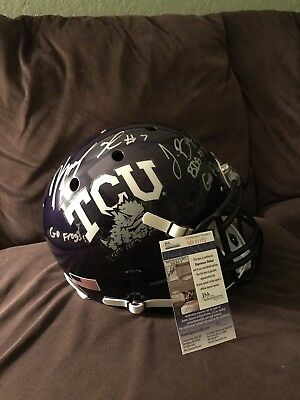 Trevone Boykin & Kenny Hill Signed  RARE  TCU AUTHENTIC FULL Size Helmet JSA