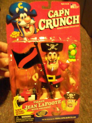Cap'n Crunch Action Figure Pirate Jean LaFoote With Squawky !st Edition Series